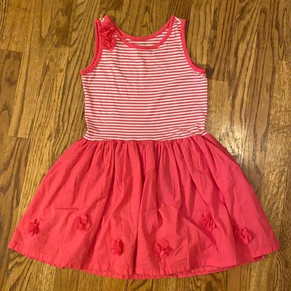 Children's Place - Pink & White Striped Dress Sz M